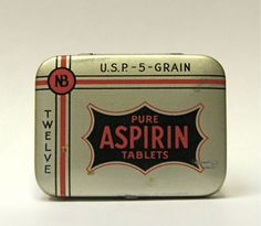 Antique Pure Aspirin Tablets Tin