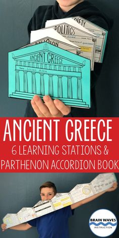 Learning about ancient Greece is about to get really fun! This resource includes 6 ancient Greece l Ancient Greece Crafts, Ancient Greece Lessons, Ancient Greece For Kids, Ancient Greece Display, Ancient Greece Ks2, Ancient Egypt, History Classroom, History Teachers, Teaching History
