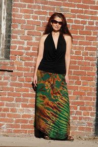 Rayon Tie Dyed Maxi Skirt