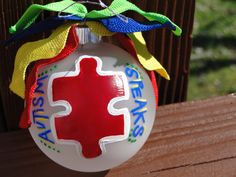 Autism Speaks Ornament- Custom Handcrafted Ornaments by CamBCar on Etsy