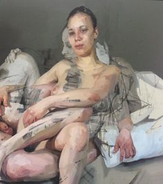 Painting by Jenny Saville Painting People, Figure Painting, Figure Drawing, Painting & Drawing, Jenny Saville Paintings, Life Drawing, Contemporary Paintings, Figurative Art, Artist At Work