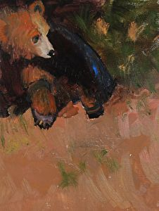 """Wildlife Art International: """"Grizzly Sunning Himself """"Original Grizzly Bear Oil Painting by Colorado Artist Susan Fowler Bear Paintings, Oil Paintings, Daily Painters, Wildlife Art, Pet Portraits, Contemporary Artists, Original Art, Abstract Art, Fine Art"""