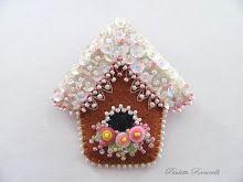 pin pan de jengibre casa para pájaros