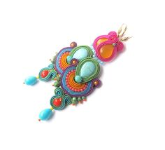 Hey, I found this really awesome Etsy listing at https://www.etsy.com/listing/451791042/long-colorful-dangle-drop-earrings