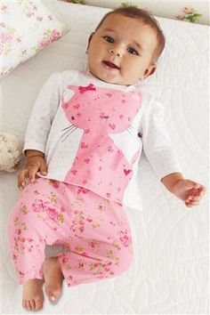 Buy Cat T-Shirt And Printed Trouser Two Piece Set (0-18mths) from the Next UK online shop