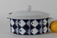Marianne Westmann Lidded Bowl 52 with cute fish from by danishhome