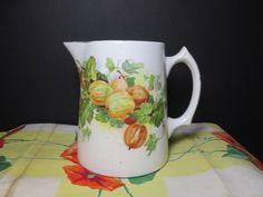 Vintage Milk Pitcher Shabby Cottage Edwin M Knowles China Ceramic Porcelain Farmhouse Kitchen Vase by NewOxfordVintage on Etsy