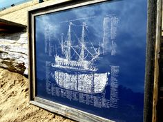 Old Ship Diagram- screen printed Nautical POSTER - large 22x28 by IScreenYouScreen on Etsy https://www.etsy.com/listing/80267183/old-ship-diagram-screen-printed-nautical