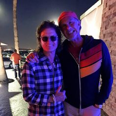 Yours truly with my other half Chad Smith last night in Malibu. Much laughter onboard...