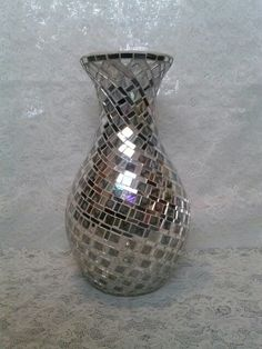 Lg. Mirror Mosaic Vase