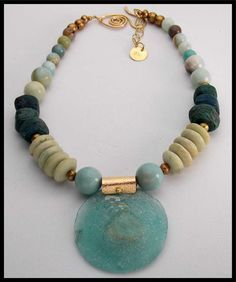 ANCIENT ROMAN GLASS  Ancient Glass  Very by sandrawebsterjewelry