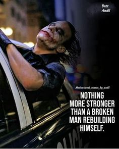 Joker Quotes : Beside the obvious grammar mistake Joker Qoutes, Best Joker Quotes, Badass Quotes, Inspiring Quotes About Life, Inspirational Quotes, Motivational Quotes For Men, Wisdom Quotes, Life Quotes, Man Quotes