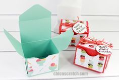 Tasty Treats Envelope Punch Board Box with Stampin' Up! Demonstrator Angie Juda