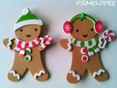 pamelopee: Gingermann - Lebkuchen-Anhänger aus Moosgummi
