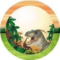 Dinossauros (reais) – Kit Digital Gratuito – Inspire sua Festa ® Boys 1st Birthday Cake, Dinosaur Birthday Cakes, Dinosaur Party, Boy Birthday Parties, Birthday Party Decorations, Fête Jurassic Park, Jurassic World, Die Dinos Baby, Baby Dino