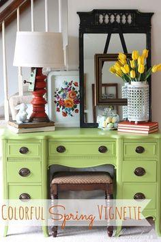 Colorful Spring Vignette | MyBlessedLife.net