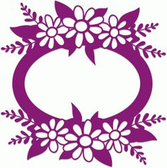Silhouette Design Store - View Design #42105: oval flower frame