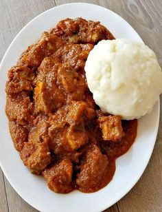 African Red Stew - October M - African Food African Stew, West African Food, South African Recipes, Beef Steak Recipes, Stew Meat Recipes, Chicken Recipes, Curry Recipes, Goat Recipes, Cooking Recipes