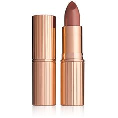 Charlotte Tilbury K.i.s.s.i.n.g Fallen from the Lipstick Tree (£25) ❤ liked on Polyvore featuring beauty products, makeup, lip makeup, lipstick, stoned rose, paraben free lipstick and paraben-free lipstick