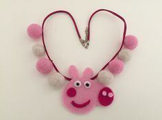 Felt and wool jewelry for Eva