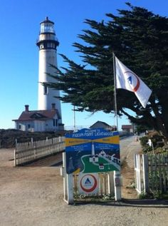 Pacific Coast Highway - Route 1:  The effervescent pigeon point lighthouse