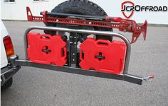 Back Bumper with tire carrier, gas can carrier, jack carrier, etc. Not a bad price too.
