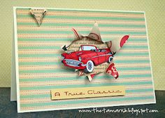 Love the idea of the car sticking out of the card