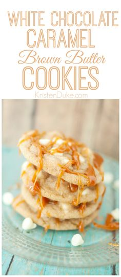 White chocolate caramel cookies recipe