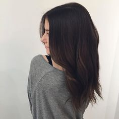 black hair with chocolate brown ombre - Google Search More
