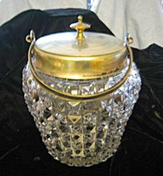 Antique biscuit jar for sale at More Than McCoy on TIAS, http://www.morethanmccoy.com