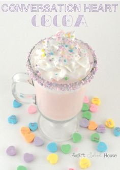 #valentine Conversation Heart Whipped Cream