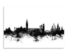 Stampa artistica su carta venice skyline, 30x21 cm