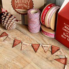 Banderín de Navidad mini. Se venden en www.mrwonderfulshop.es #fiesta #banderin #navidad #christmas