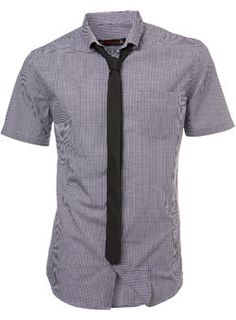 Burton Purple Gingham Shirt and Tie Short sleeve purple gingham shirt with a button down collar and plain black skinny tie. 60% Cotton,40% Polyester. Machine washable. http://www.comparestoreprices.co.uk//burton-purple-gingham-shirt-and-tie.asp