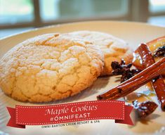 Check out Executive Chef Andre Natera's delicious recipe for festive maple cookies. #OmniFeast is a collection of perfect holiday recipes.