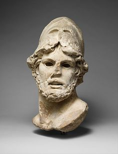 Marble head of a Greek general Period: Imperial Date: century A. Dimensions: H. 18 in. cm) Classification: Stone Sculpture Credit Line: Fletcher Fund, 1924 Accession Number: Roman Sculpture, Sculpture Art, Stone Sculptures, Ancient Romans, Ancient Art, Mediterranean Art, Greek Statues, Roman Art, Greek Art