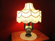 victorian lamp & shade