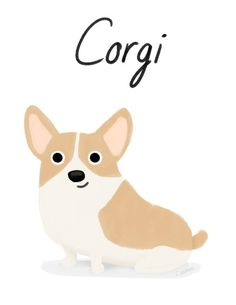 Corgi - Cute Dog Series Stretched Canvas