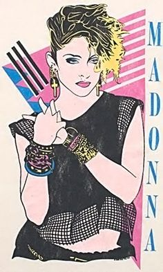 Madonna #80s #illustration #art