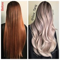 Color correction using @schwarzkopfpro Igora Royal and Balayage with blondme gloss with Schwarzkopf vibrancy gloss 9.5-1 with a dot of 6-99 and 0-00. Follow my periscope adventure: Guy Tang