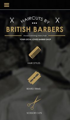 Barber Shop Responsive Mobile Website Design Layout by http://creativs.co.uk
