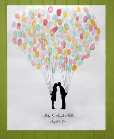 balloon guest book- with guest fingerprints @Maura McGowan
