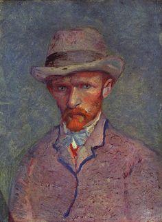 1887 Self-Portrait in Grey Felt Hat oil on pasteboard 19 x 14 cm Paris, March-April 1887