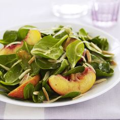 Spinach and Nectarine Salad