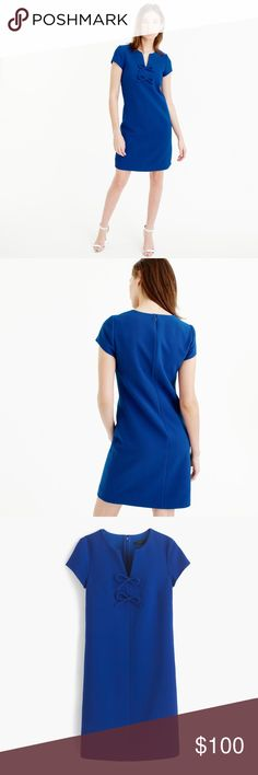EUC J.Crew {Sleeveless} Presentation Dress This dress features a flattering (work-appropriate!) A-line shape that's crafted in textured crepe, plus pretty bow embellishments. And like the name suggests, we think it's perfect to wear for all those Monday-through-Friday presentations. Straight silhouette. Falls above the knee. Poly/spandex. Back zip. Lined. NOTE: sleeves have been professionally removed to make the dress sleeveless! J. Crew Dresses