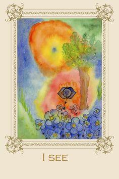 Tree Affirmation card No 6 #chakra #meditation #ajna #greetingcard