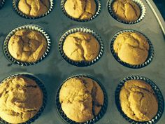 These muffins do not contain butter, milk or sugar, but are very delicious.  I've been making them as a quick on the run breakfast and for after school snacks. 3 T. Coconut Oil, melted 2 C. Flour 1...