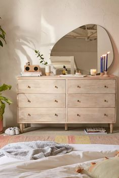The modern dresser as a stylish idea for more storage space at home - Decoration Top Room Ideas Bedroom, Home Decor Bedroom, Urban Bedroom, Master Bedroom, Bedroom Dressers, Bedroom Mirrors, Aesthetic Rooms, My New Room, Room Inspiration