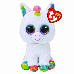 aa47fbcad84 TY Beanie Boos Medium Pixy The Unicorn Plush Toy