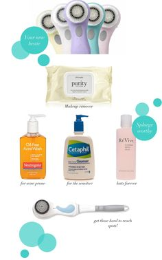 Cleansers & face washes to use with the clarisonic